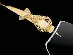 FLAIR Brillen made in Germany: Echtgold Dekor - Schmuckbrillen Modell 168