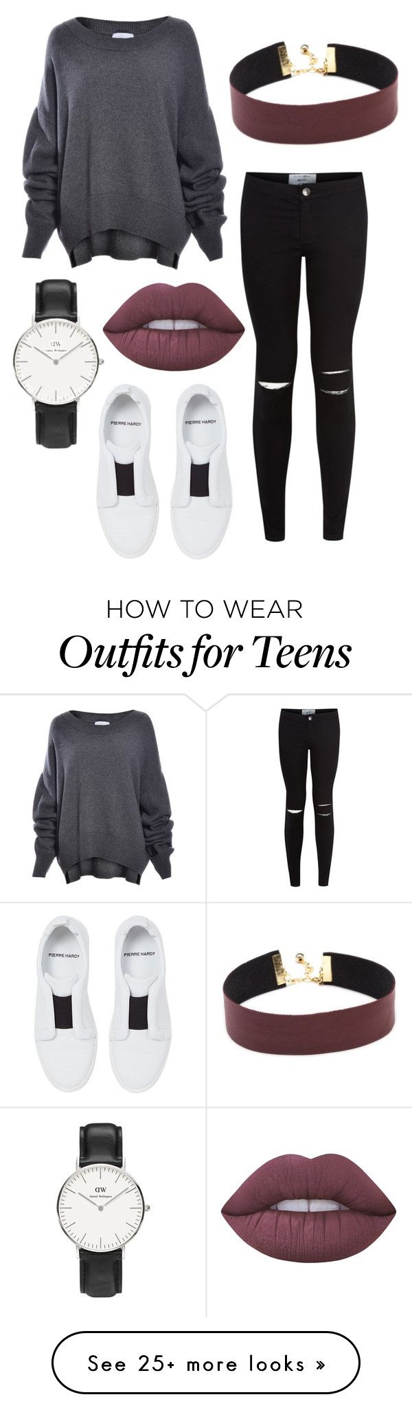 """adventure"" by jocelyne-luna on Polyvore featuring New Look, Pierre Hardy, Lime Crime and Daniel Wellington"