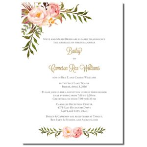 Wedding Invites On A Budget 144 U2013 One Sided