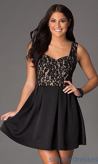Short Sleeveless Heart Back Dress at SimplyDresses.com