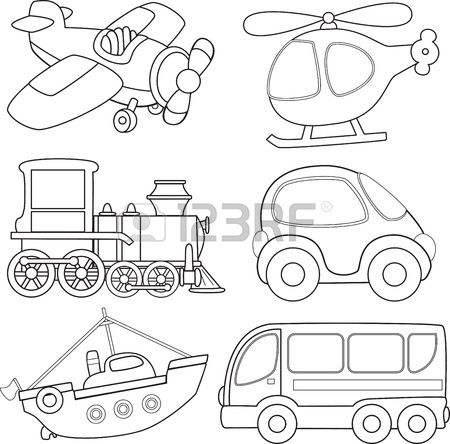 Transportation coloring pages trains ~ 1000+ images about * Transportation Silhouettes, Vectors ...