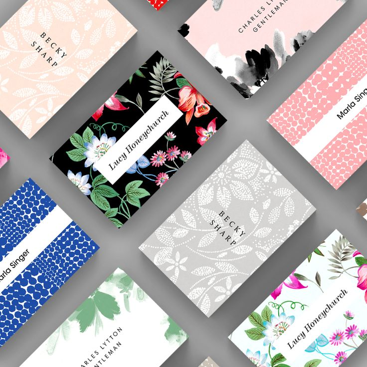 A selection of Print business card templates available to customise and order on our site.
