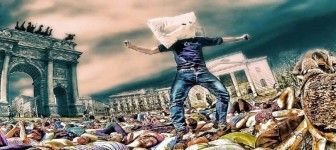 Sabato 1 Aprile 2017: battaglia di cuscini all'Arco della Pace