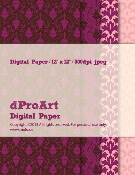 Baroque 03 Digital Paper by dProArt at www.mulu.us