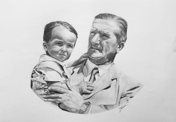 Horthy Miklós és unokája A/3-as rajz.