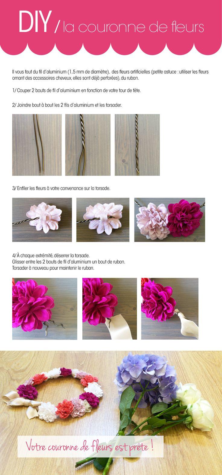 DIY / la couronne de fleurs