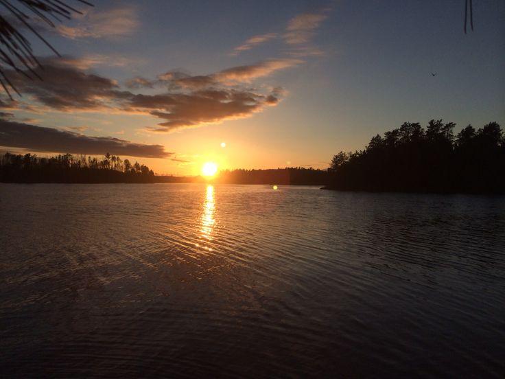Boundary waters sunset