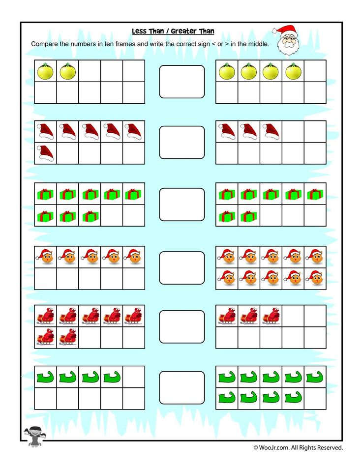 Junior Kindergarten Math Worksheets