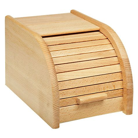 Buy John Lewis Bread Bin With Roll Door, Small, FSC-certified (Beech) Online at…