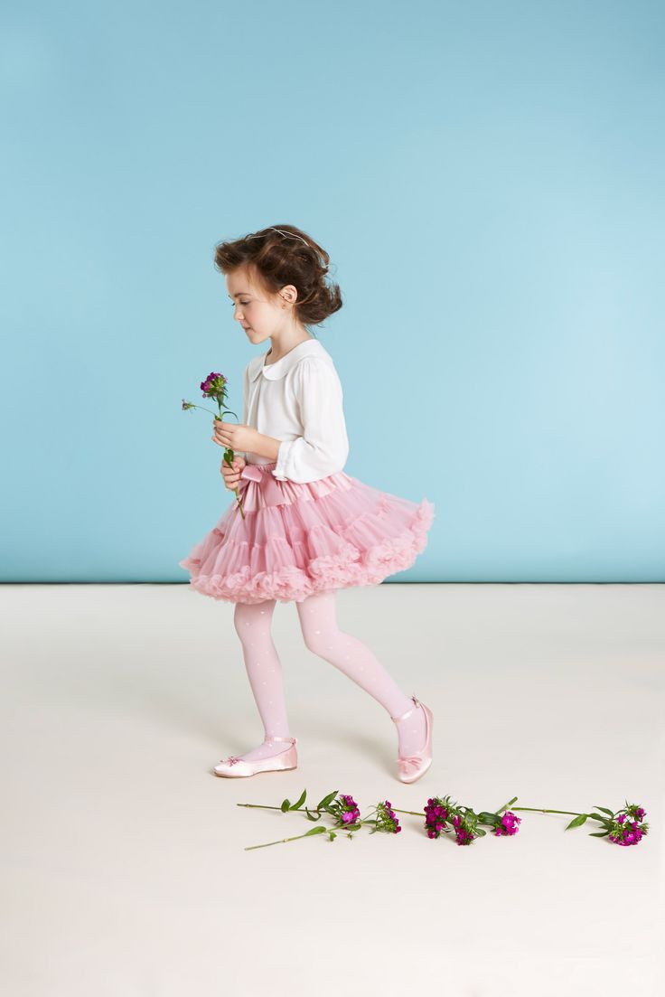 Pink tutu worn with pink tights, ballet pumps and a white blouse, all Paul Costelloe Living Occasion, exclusively for Dunnes Stores