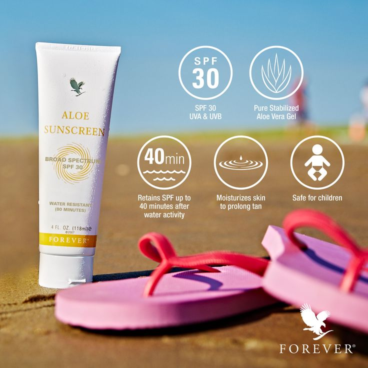 Sunscreen Facts for Summer from Forever Living Products