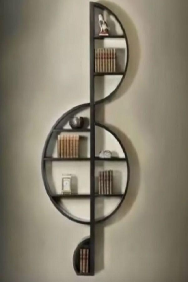 40 Creative Wall Shelves Ideas Diy Home Decor Video Creative Shelves Home Decor Diy Music Decor Creative Bookshelves Decor