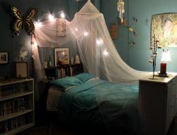Blue Teenage Girls Bedroom