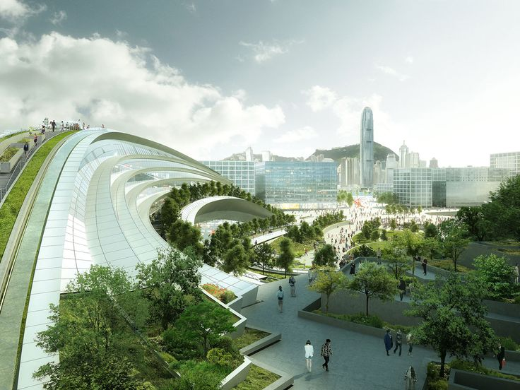 The West Kowloon Terminus under the Hong Kong Section of the Express Rail Link Project | Aedas | Architecture | Infrastructure | Hong Kong, PRC