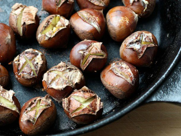 Oven Roasted Chestnuts with Spiced Melted Butter, SeriousEats (I've never had chestnuts and this sounds like a great preparation; fresh chestnuts, butter, cinnamon stick, sugar, salt, nutmeg)