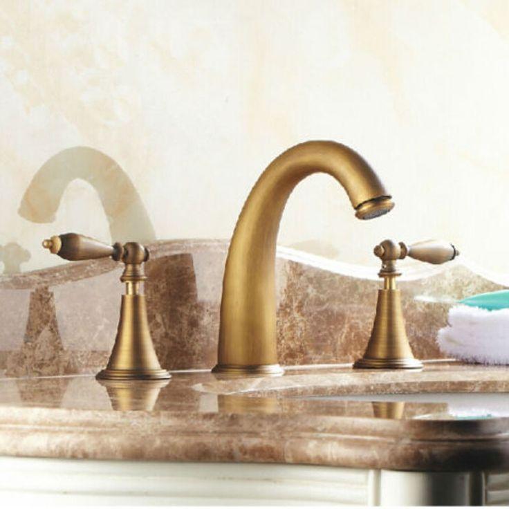 63.36$ Watch Here   Http://ali062.worldwells.pw/go · Bathroom Sink  TapsVanity SinkBathroom FixturesAntique Brass ...
