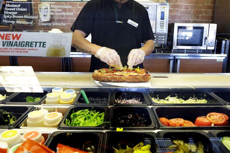 Subway sandwich prep