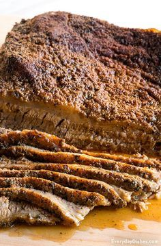 Oven-roasted beef brisket recipe