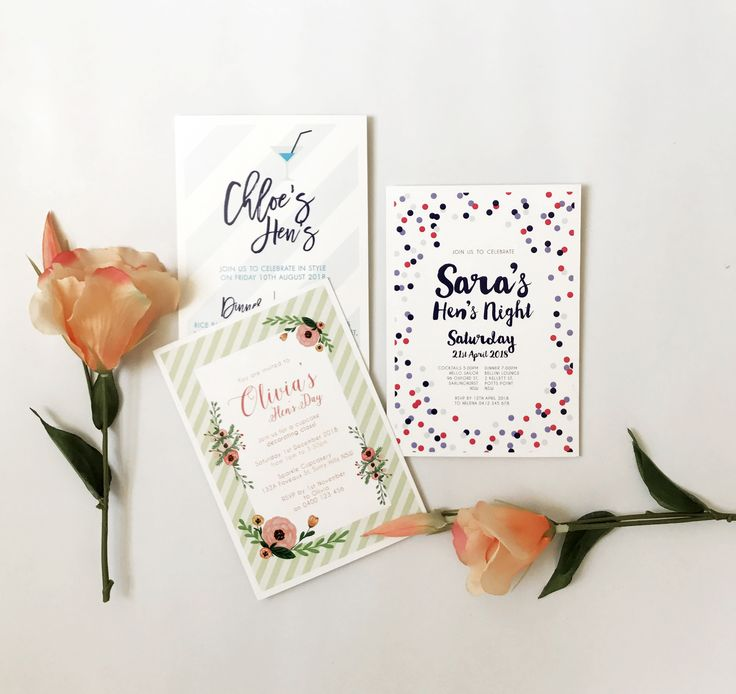 Hen's Party Invitations by Candle Bark Weddings
