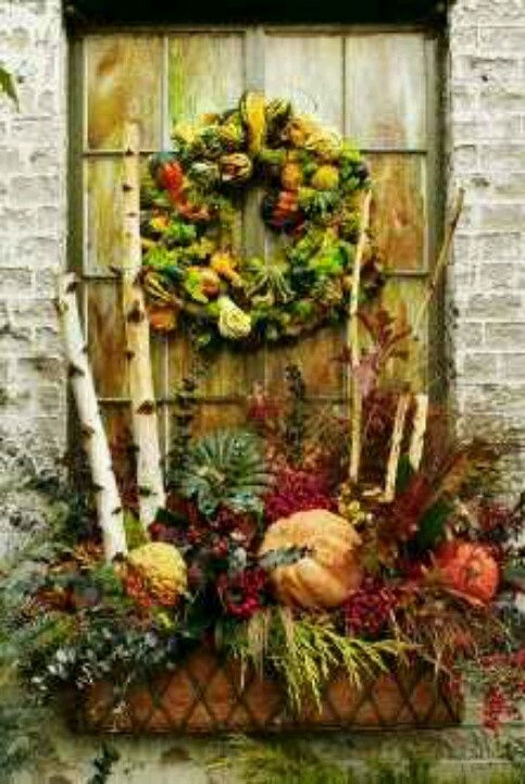 Decorating Around Harvest Gold Bathroom: 21 Best Images About Fall Curb Appeal On Pinterest