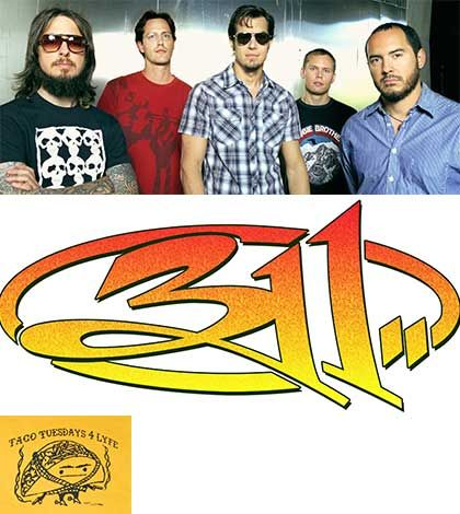 311 #music rocks out #TacoTuesday Green for life @311