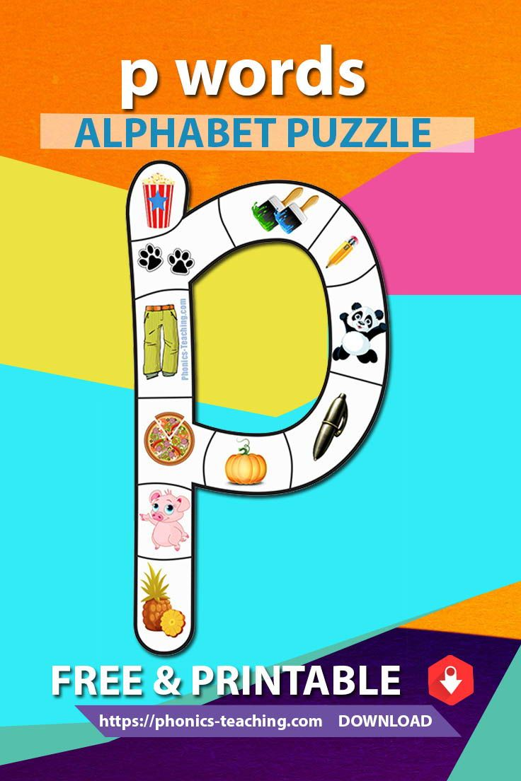 photograph regarding Alphabet Puzzle Printable named Cost-free Phonics Game - p Text - Phonics Jigsaw Puzzle
