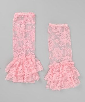 Take a look at this Pink Lace Flared Leg Warmers on zulily today!