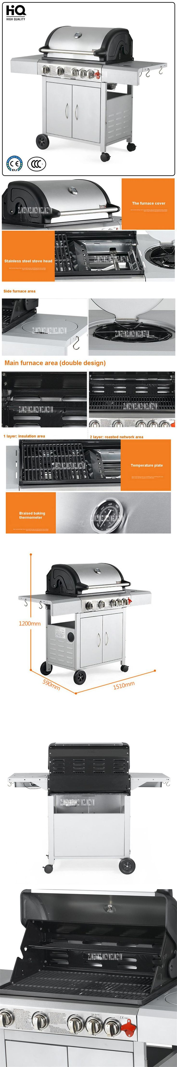 Stainless Steel Gas Barbecue Grills 3C/CE Outdoor Gas Stove zs-032,Multi