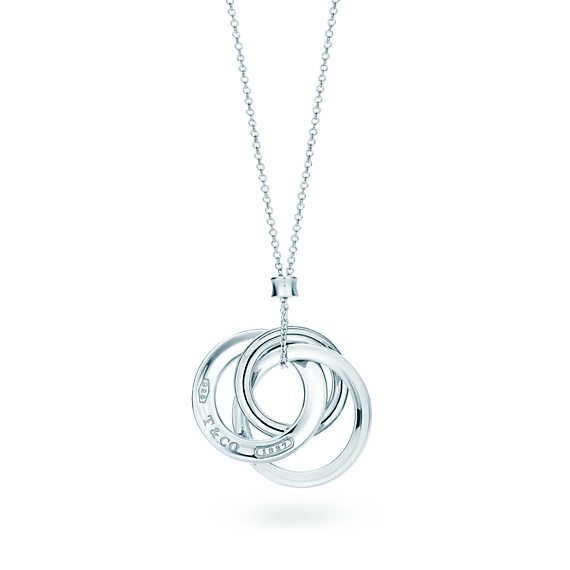 Tiffany 1837™ interlocking circles pendant in sterling silver, small.