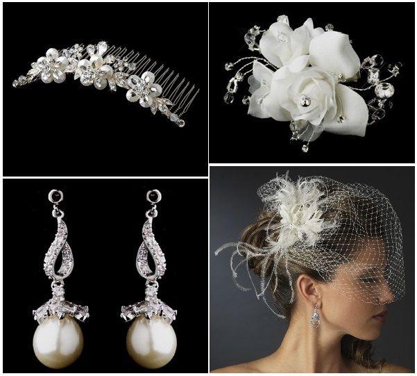 Vi har netop tilføjet smukke #smykker, #hårpynt og #slør for #bruden.