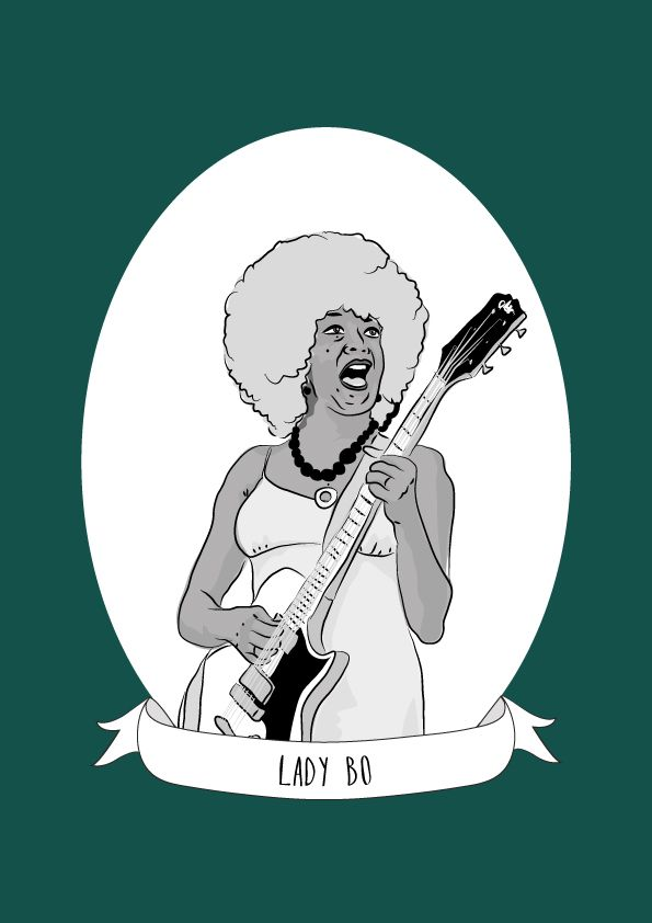 """Lady Bo was an American musician and a pioneer of rock 'n' roll. She was one of the first female rock guitarists in a highly visible rock band and the """"Queen Mother of Guitar"""". Lady Bo was born Peggy Jones in Harlem, New York City. She attended..."""