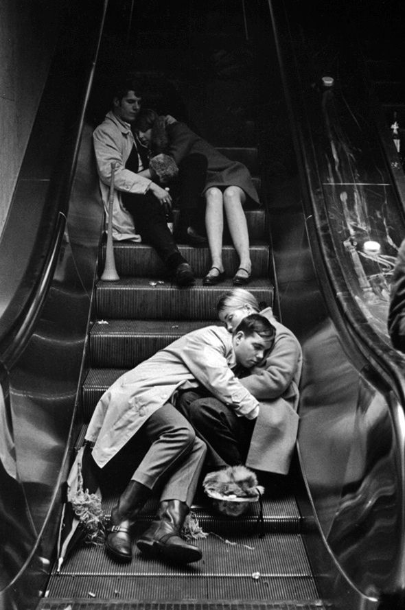 Nice Boots - New Year's Eve, Grand Central Station, NYC, Photo by Leonard Freed, 1969