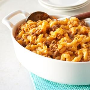 Ground Beef Recipes Under 300 Calories | Beef, Cheese, and Noodle Bake  | MyRecipes.com