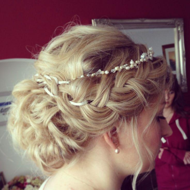 Wedding hair by Lisa Cameron Braid bridal ideas plaits plait up do Bridesmaid hair bride hair up