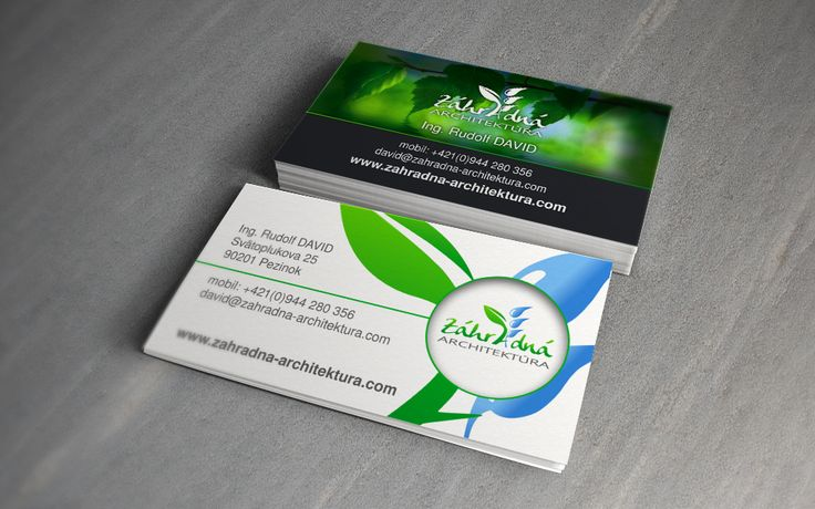 business cards for my client Záhradná architektúra (Garden architecture).