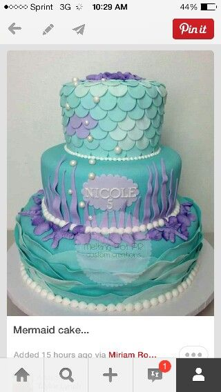 Little Mermaid idea from Icing Smiles mother