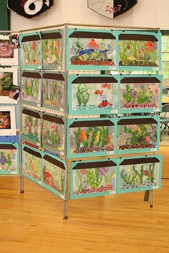 aquarium - love the display rack...