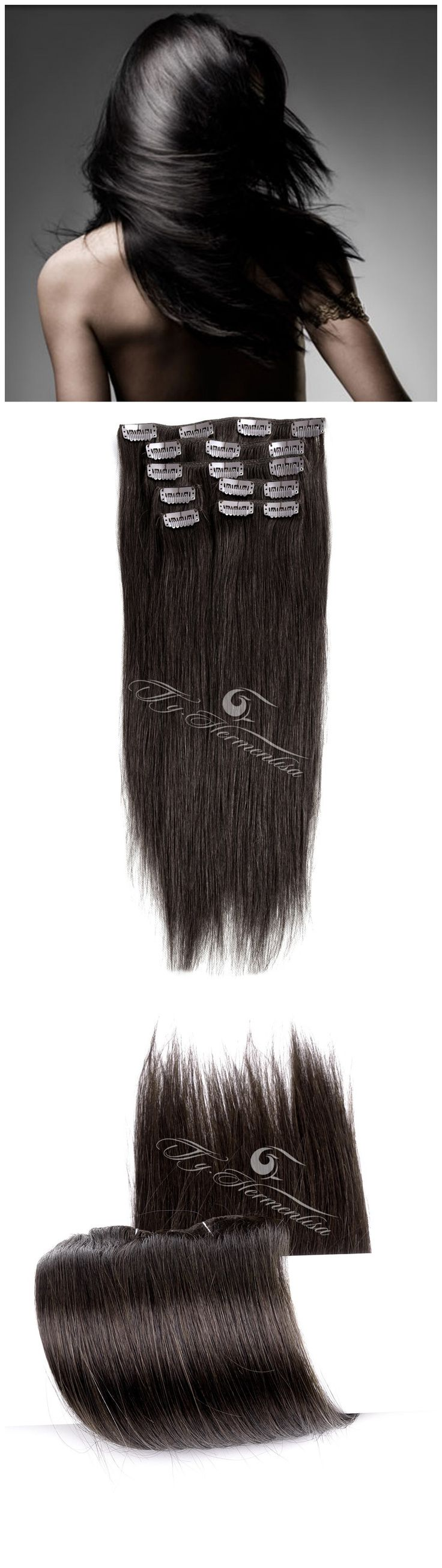 5885 best human hair extensions images on pinterest colours perfectly designed 7 pieces clip in remy human hair extensions darkest brown easy to apply put on and take off whenever and wherever you want pmusecretfo Images