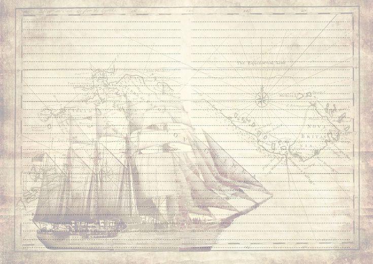 Шаблоны конвертов и бумаги для писем на морскую тематику.