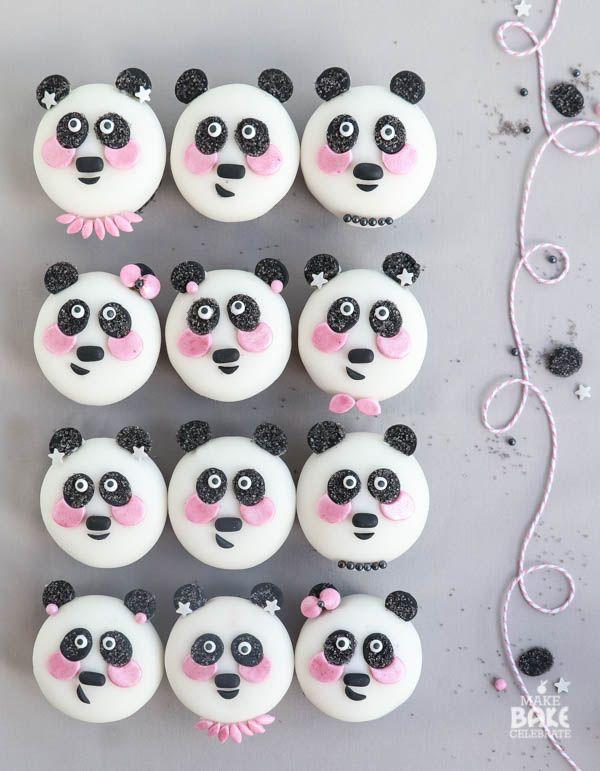 Mama Bear Panda Cupcakes