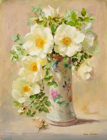 Modern Art for Sale at Thompson's Galleries: Wild Roses, Oil on board
