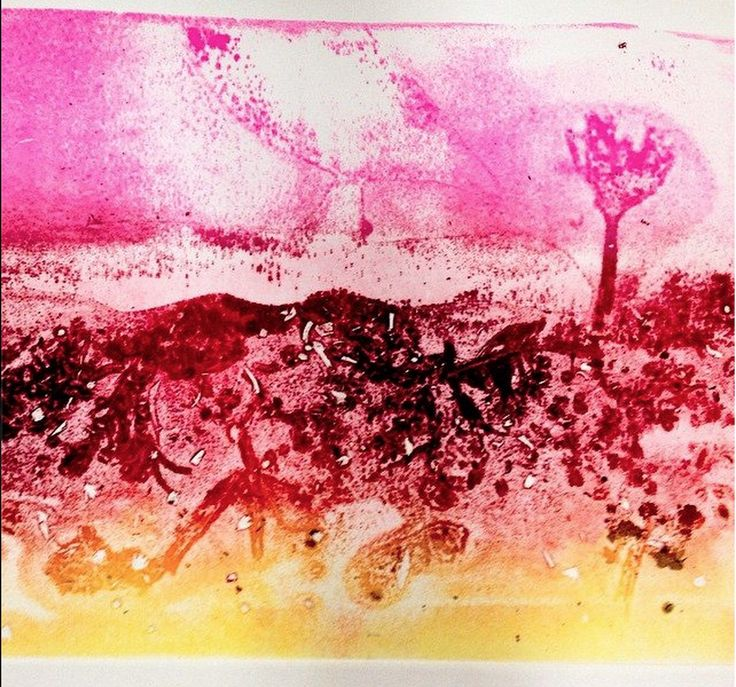 Student Artist Unknown - Fine Art Printmaking Mono Type