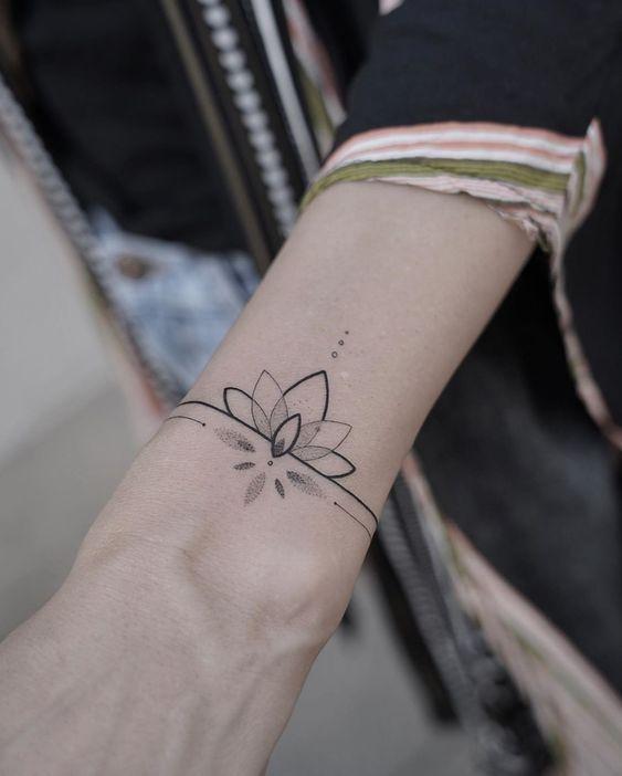 Pin by Joana Medeiros on tatuagens <3 | Cuff tattoo, Wrist bracelet tattoo, Tattoo bracelet