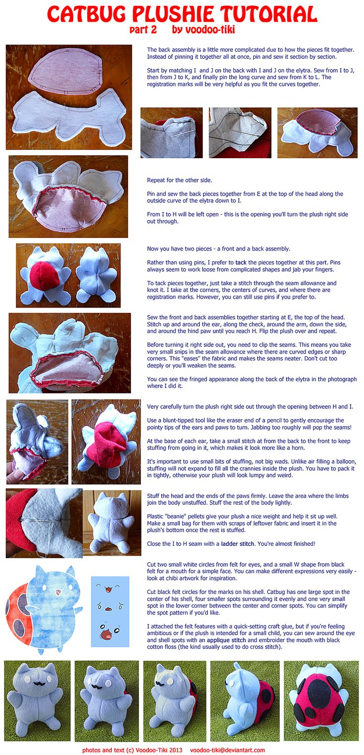 Catbug Plushie Tutorial Part 2 By Voodootiki