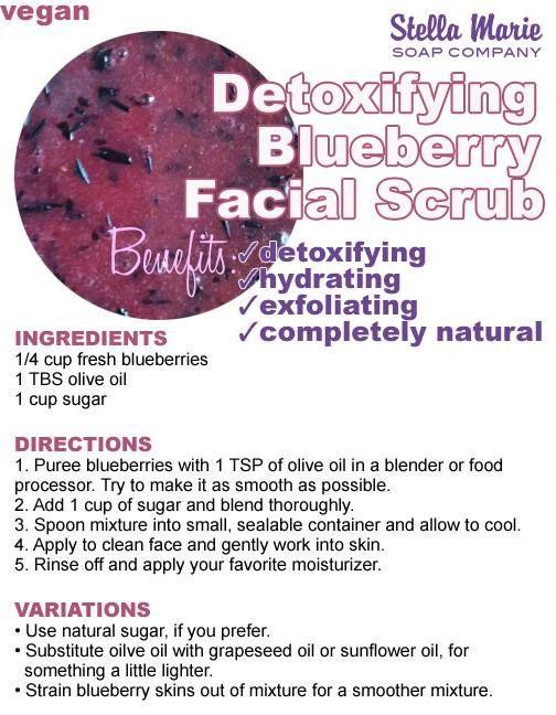 Detoxifying Blueberry Facial Scrub