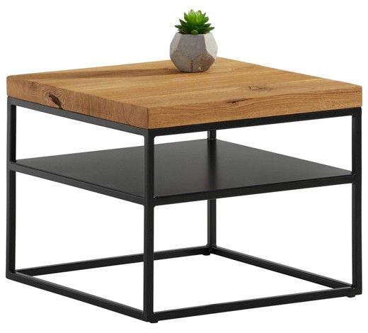 Couchtisch Eiche Massiv Quadratisch Eichefarben Schwarz Furniture