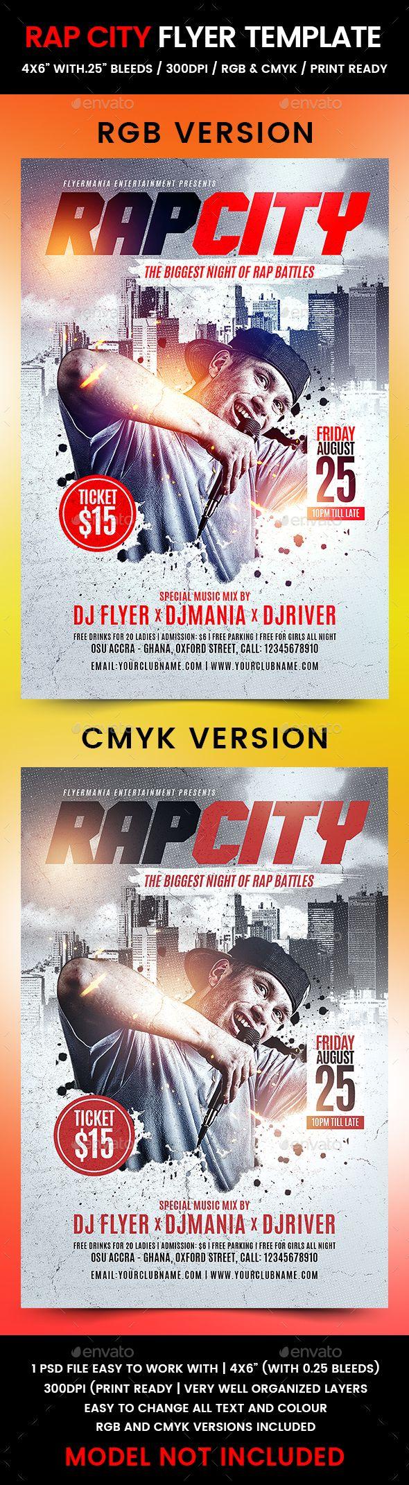 Rap City Flyer Template PSD