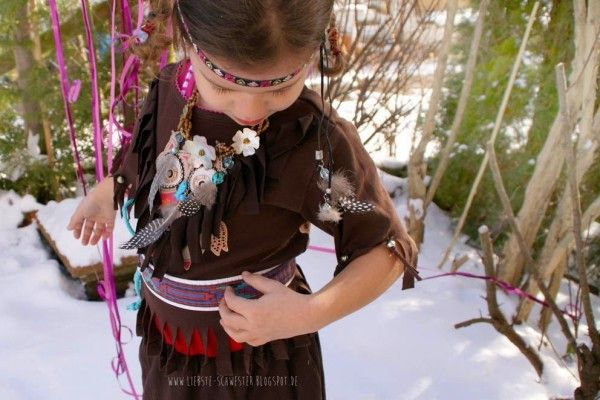 Upcycling Indianer Kostüm