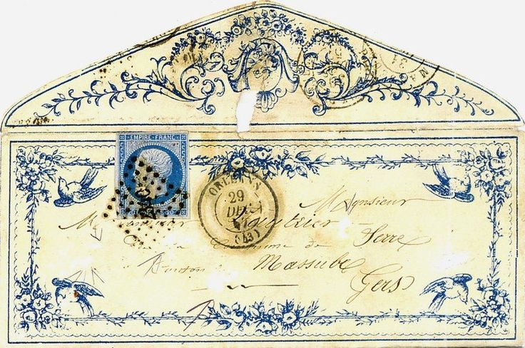 1857... fancily decorated old envelope... no one does this stuff anymore.
