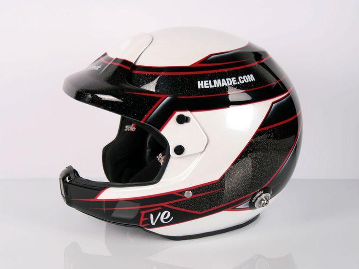 #helmade #helmetdesign for #EveWallenwein German #WRC #rallye driver. Create your own on www.helmade.com #stilo #rallye #dakar #openface #citroen #motorsport